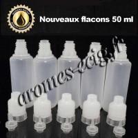 Flacons 50 ml sécurisés 5 pcs transparents