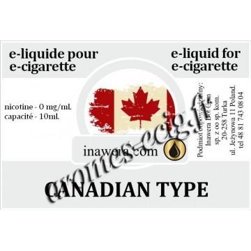 E-Liquide Canadian Type 0 mg Inawera