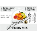 E-Liquide Citron Mix 0 mg Inawera