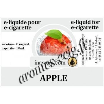 E-Liquide Pomme 0 mg Inawera