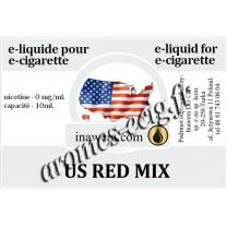 E-Liquide US Red Mix 0 mg Inawera