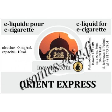 E-Liquide Orient Express 0 mg Inawera