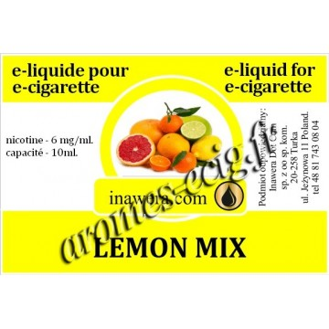 E-Liquide Citron Mix 6 mg Inawera
