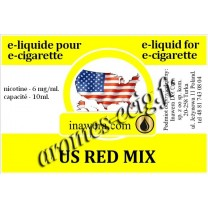 E-Liquide US Red Mix 6 mg Inawera