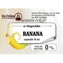 E-Liquide Banane 0 mg Tino D'Milano