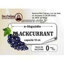 E-Liquide Cassis 0 mg Tino D'Milano