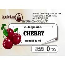 E-Liquide Cerise 0 mg Tino D'Milano