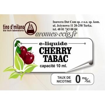E-Liquide Cerise Tabac 0 mg Tino D'Milano