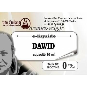 E-Liquide Dawid 0 mg Tino D'Milano