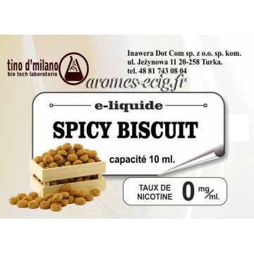 E-Liquide Spicy Biscuit 0 mg Tino D'Milano