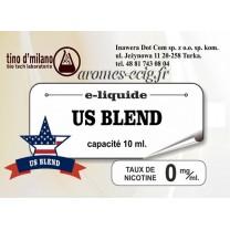 E-Liquide US Blend 0 mg Tino D'Milano