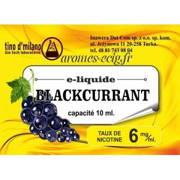E-Liquide Cassis 6 mg Tino D'Milano