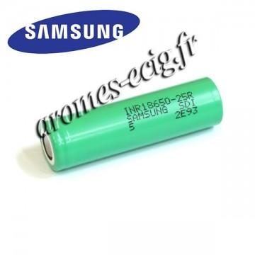 Accu 18650 2500 mAh Samsung INR 25R pour mod