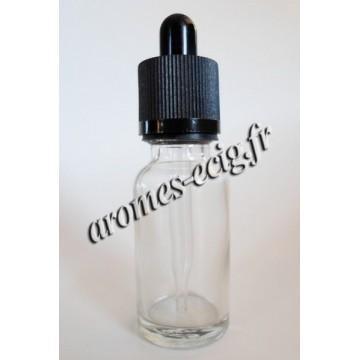 Flacons 20 ml en verre 5 Pcs avec pipette