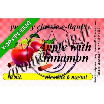 E-Liquide Pomme Cannelle 6 mg TDM classique