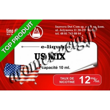 E-Liquide US Mix 12 mg Tino D'Milano