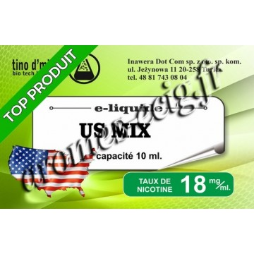 E-Liquide US Mix 18 mg Tino D'Milano