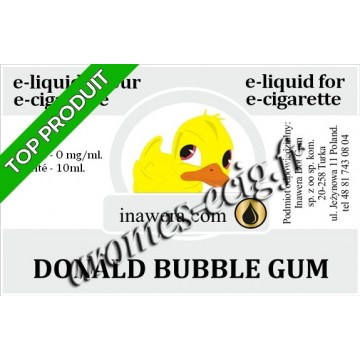 E-Liquide Donald Bubble Gum 0 mg Inawera