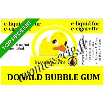 E-Liquide Donald Bubble Gum 6 mg Inawera