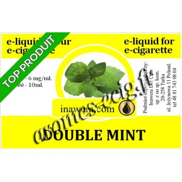 E-Liquide Double Menthe 6 mg Inawera