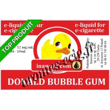 E-Liquide Donald Bubble Gum 12 mg Inawera